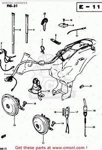 Suzuki Rv50 1981  X  Wiring Harness
