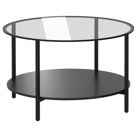 glass end tables ikea vittsjö coffee table black brown glass 75 cm ikea