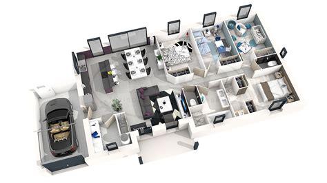 plan maison 150m2 4 chambres maison astriée 4 ch