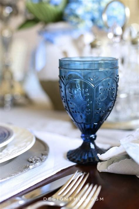 country french blue  white tablescape