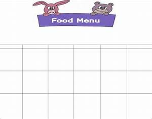 daycare food menu template in word and pdf formats With daycare food menu template
