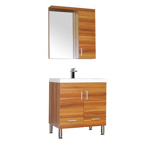 "ALYA AT 8085 C 30"" Single Modern Bathroom Vanity   Cherry"