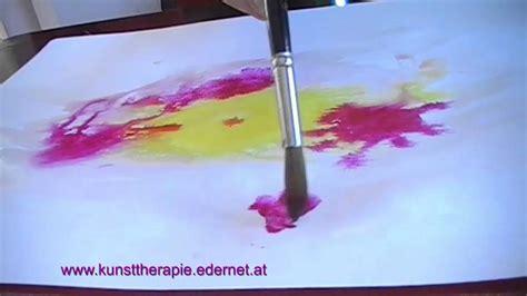 Nass In Nass Technik by Kunsttherapie Nass In Nass