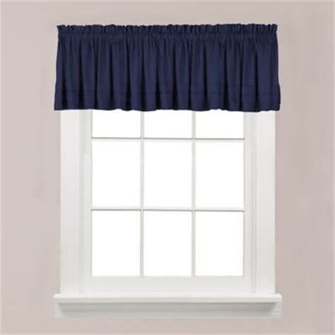 navy window curtains buy navy blue valances from bed bath beyond