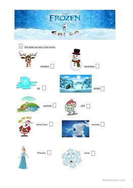 17 Free Esl Frozen Worksheets