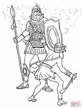 Coloring Goliath David Pages Printable Bible Drawing Fight Saul King Crafts Getdrawings Supercoloring Goliat Template Christianity Lion Dot Craft Sunday sketch template