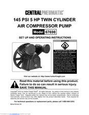 Central pneumatic 67698 Manuals | ManualsLib