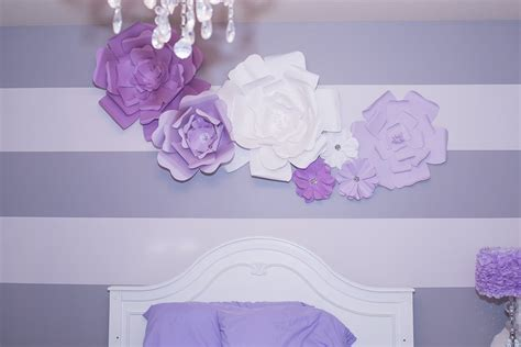 hometalk diy large paper flowers wall decor   bed