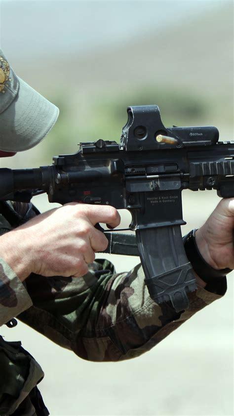 wallpaper hk soldier heckler koch assault rifle