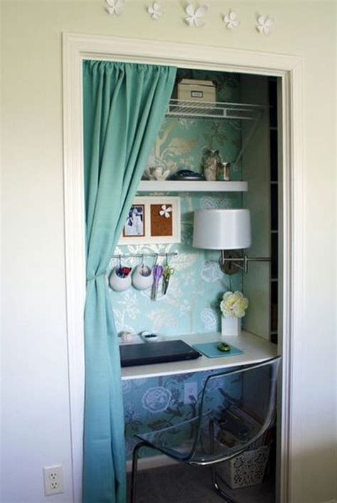 desk inside a closet turn a closet or cupboard into a workstation