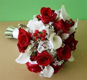 Red And White Wedding Flowers | www.pixshark.com - Images ...