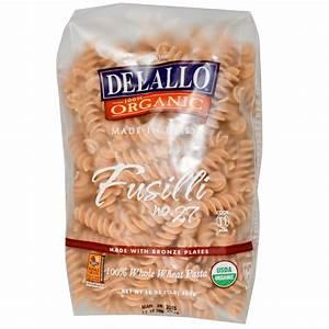DeLallo, Fusilli No. 27, 100% Organic Whole Wheat Pasta ...
