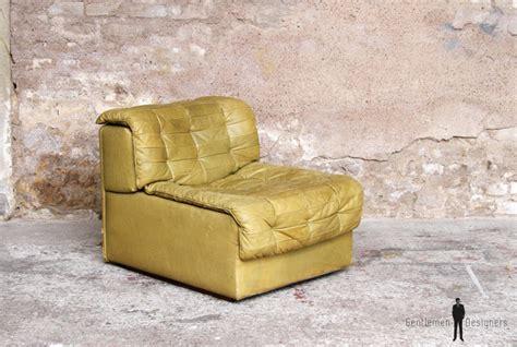 canapé alsace fauteuil vintage desede en cuir très confortable