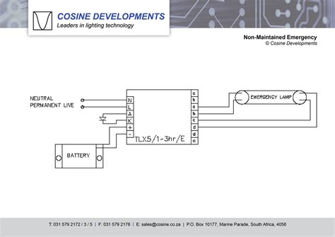 emergency light wiring diagram non maintained wiring diagrams cosine developments