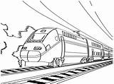 Train Coloring Speed Drawing Colouring Pages Passenger Line Caboose European Express Colour Cartoon Print Trains Printable Interview Jays Dee Getdrawings sketch template