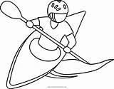 Coloring Kayak Kayaking Pages Printable Getcolorings sketch template