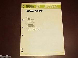 Stihl Electric String Trimmer Spare Parts List Diagram