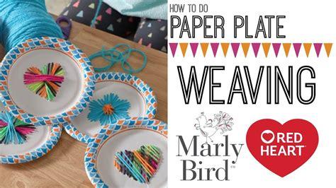 diy kids craft paper plate weaving  string art youtube