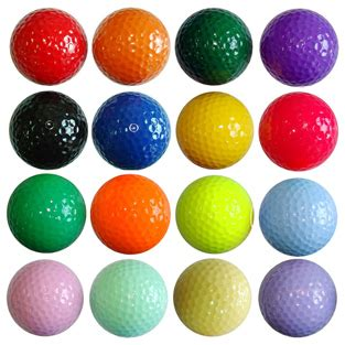 colored golf balls color golf 1 dozen 12 balls my golf