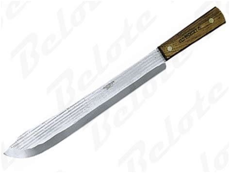 ontario kitchen knives ontario hickory cutlery 14 quot butcher knife 7113