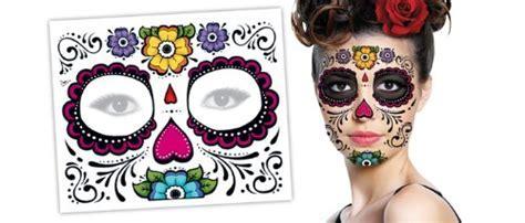 Sugar Skull Full Face Temporary Tattoo   Buy Online in UAE