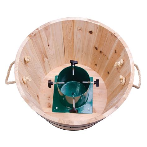 wooden barrel medium christmas tree stand