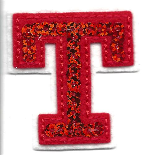 applique iron letters sequin 2 quot letter quot t quot iron on embroidered