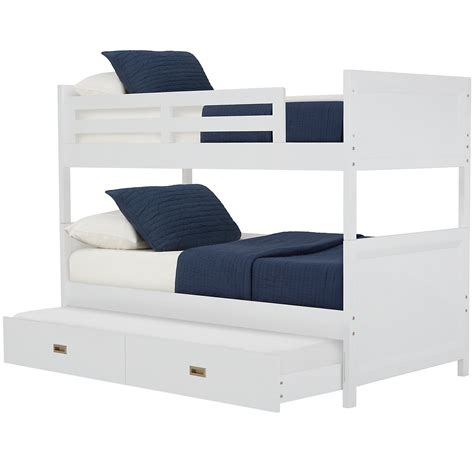city furniture ryder white trundle bunk bed