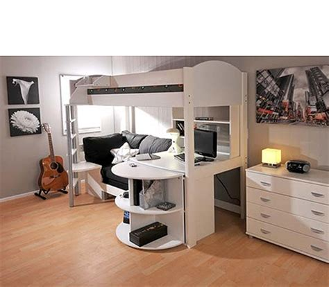 Bunk Bed Desk Combo Plans by Stompa Combo White Highsleeper Bed With Sofa Bed
