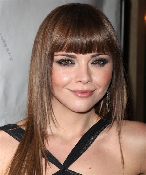 Christina Ricci Long Straight Formal Hairstyle with Blunt