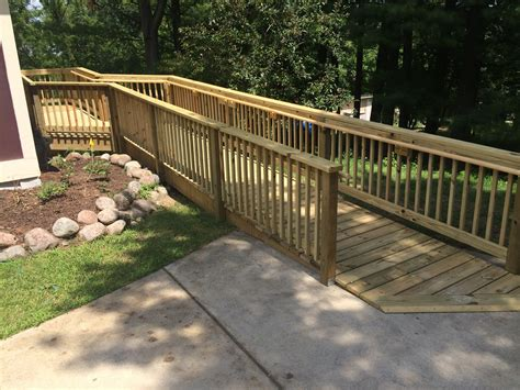 Wheelchair Ramps Wood, Metal, Concrete, & Landscaping
