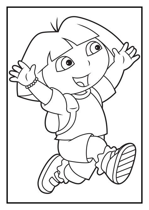 stunning dora coloring pages  print