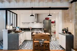 echoppe bordelaise surelevee industriel cuisine With charming plan de travail pour exterieur 4 renover une cuisine avec les plans de travail de