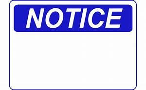 Clipart - Notice - Blank