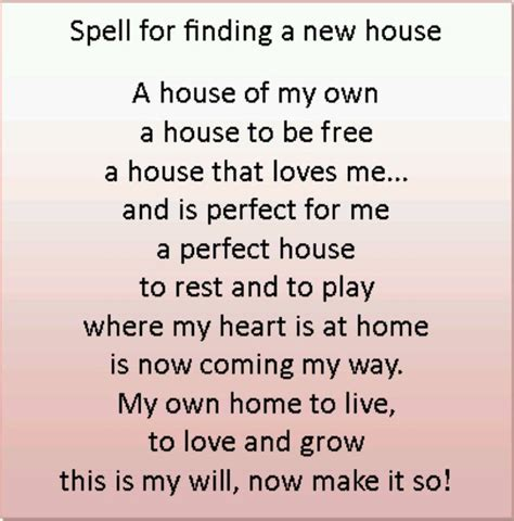 Spell To Find A New Home  Spells Wicca, Witchcraft
