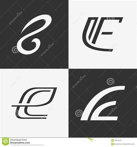 set  letter  sign logo icon design template