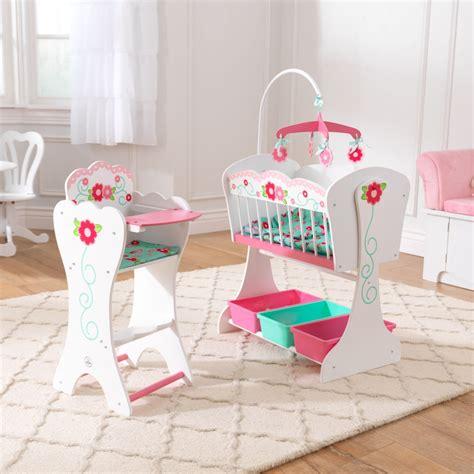 chaise haute poupée meubles de poupée en bois par kidkraft