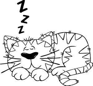 cartoon cat sleeping outline clip art  clkercom