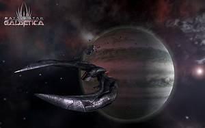 Battlestar Galactica Raumschiff Planet Browserspiel