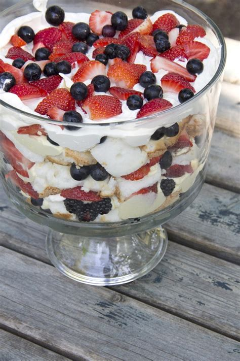 easy independence day trifle angel food cake trifle