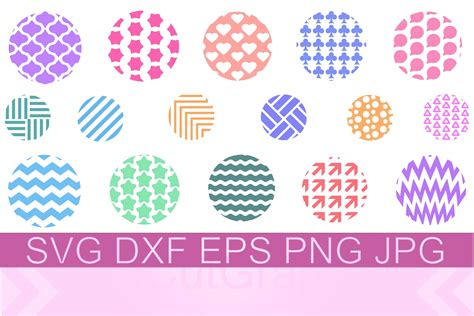 Our files are compatible for cutting. Keychain Round Pattern SVG PNG DXF (1136302)   Cut Files ...