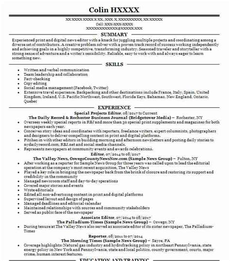 Resume Editor by Painter Resume Objectives Resume Sle Livecareer