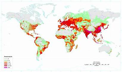 Population Density Map Per Km Areas Climate