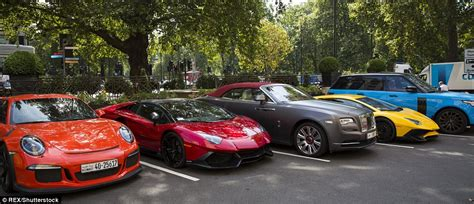 Arab Millionaires Park Their Wheels Outside The Dorchester