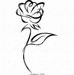 11 Black And White Rose Vector Images - Black and White ...