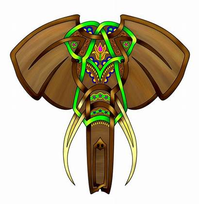 Elephant Celtic Knot Indian Deviantart Clipart Knotwork