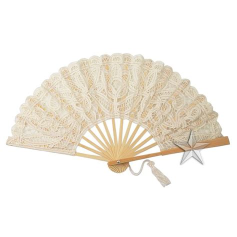 hand fans for wedding large natural lace hand fan g95517e1 natural lace hand fans