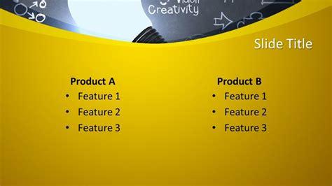 Free Education Chalkboard & Light Bulb PowerPoint Template ...