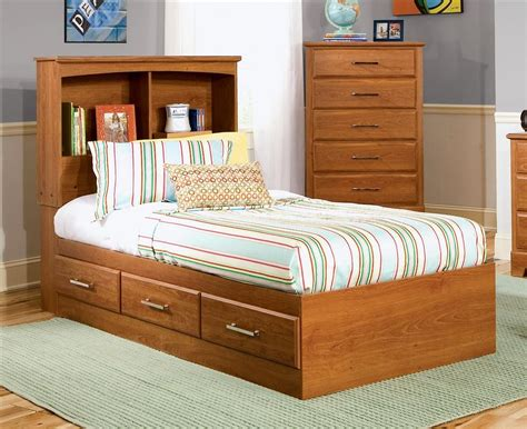Cool Kids Twin Bed With Storage Twin Bookcase Storage Bed