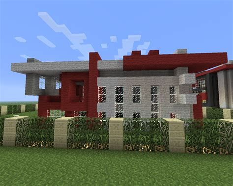 modern big house minecraft project